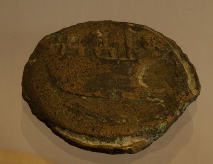 Romeinse munt uit Vienna, ca. 10-20 voor Chr.